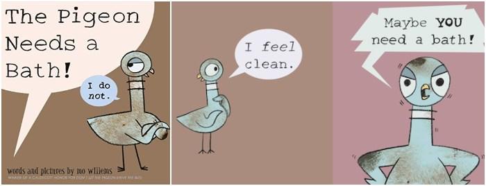los mejores cuentos y libros infantiles en inglés The pigeon needs a bath mo willems