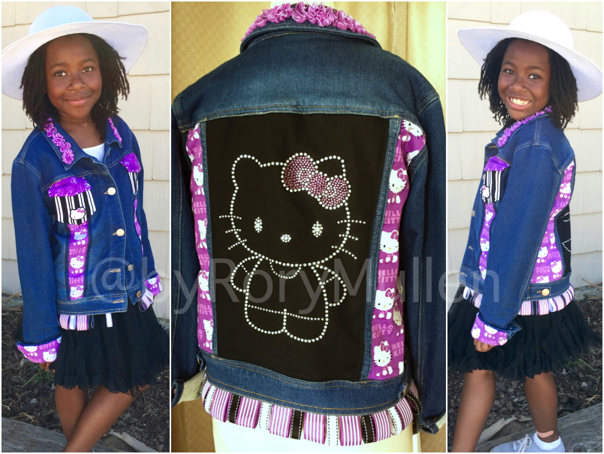 Custom purple hello kitty denim jacket rory mullen this jacket was inspired by a look a friend created for my daughters fourth birthday for years it was the favourite item in her wardrobe solutioingenieria Gallery