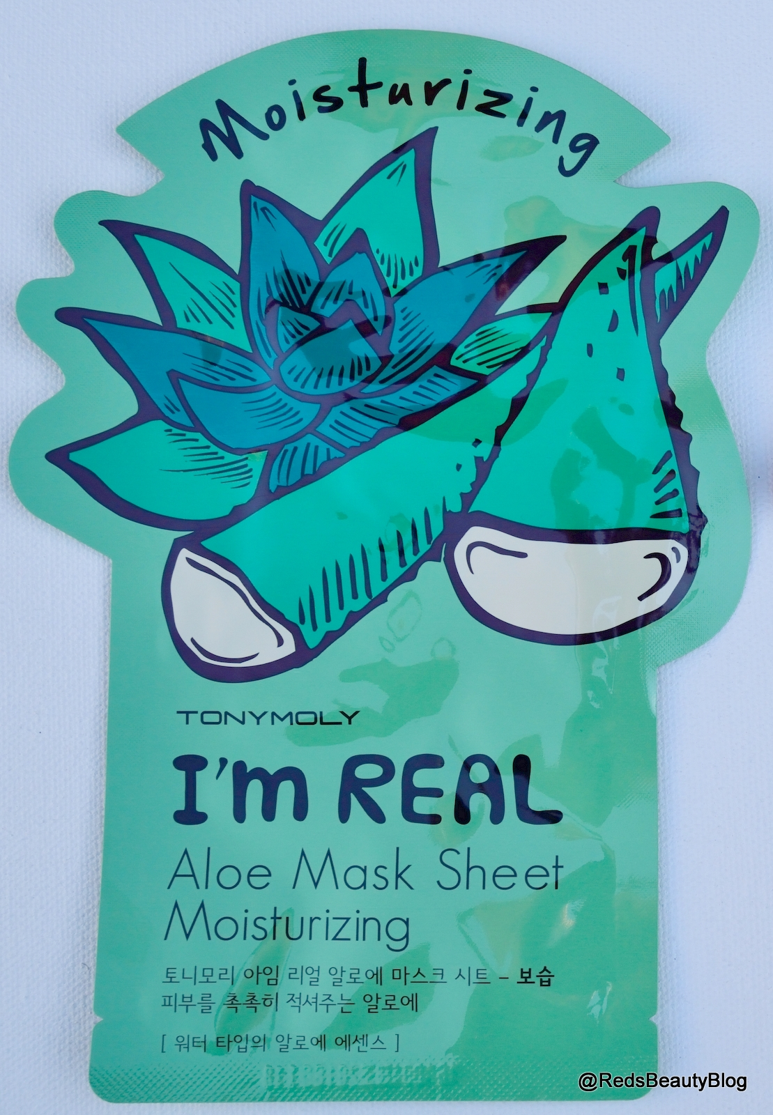 a picture of Tony Moly I'm Real Aloe Mask Sheet