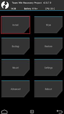 Cara Mudah Install TWRP Asus Zenfone 2 [ZE550ML/ZE551ML]