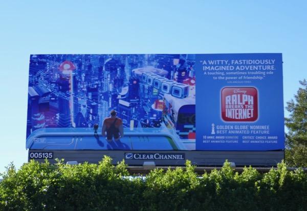 Ralph Breaks the Internet Golden Globe nominee billboard