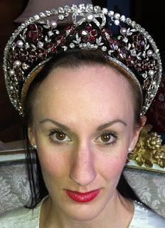 Countess Rosenborg Garnet Kokoshnik Tiara Princess Viggo Denmark Dragsted