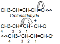 crotonaldehyde resonance effect