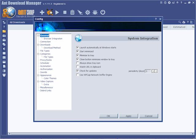تنزيل برنامج التحميل من الأنتلرنت Ant Download Manager Pro