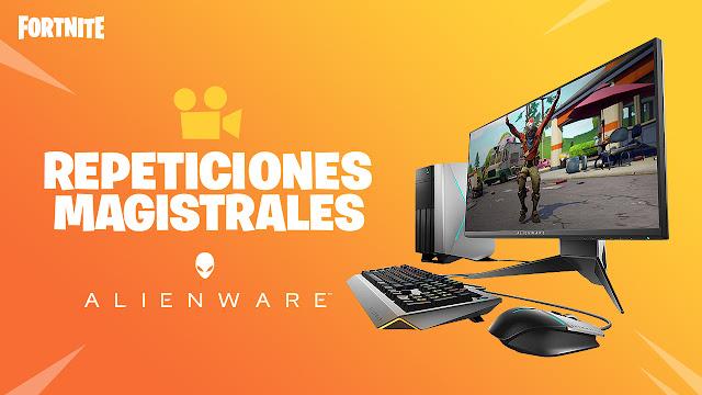 Gana grandes premios con el nuevo concurso de Fortnite, ¡un alienware en juego!