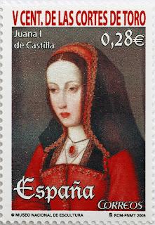 V CENTENARIO DE LAS CORTES DE TORO, JUANA I DE CASTILLA