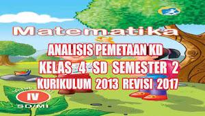 Analisis Pemetaan KD Matematika Kelas 4 SD Semester 2 Kurikulum 2013 Revisi 2017