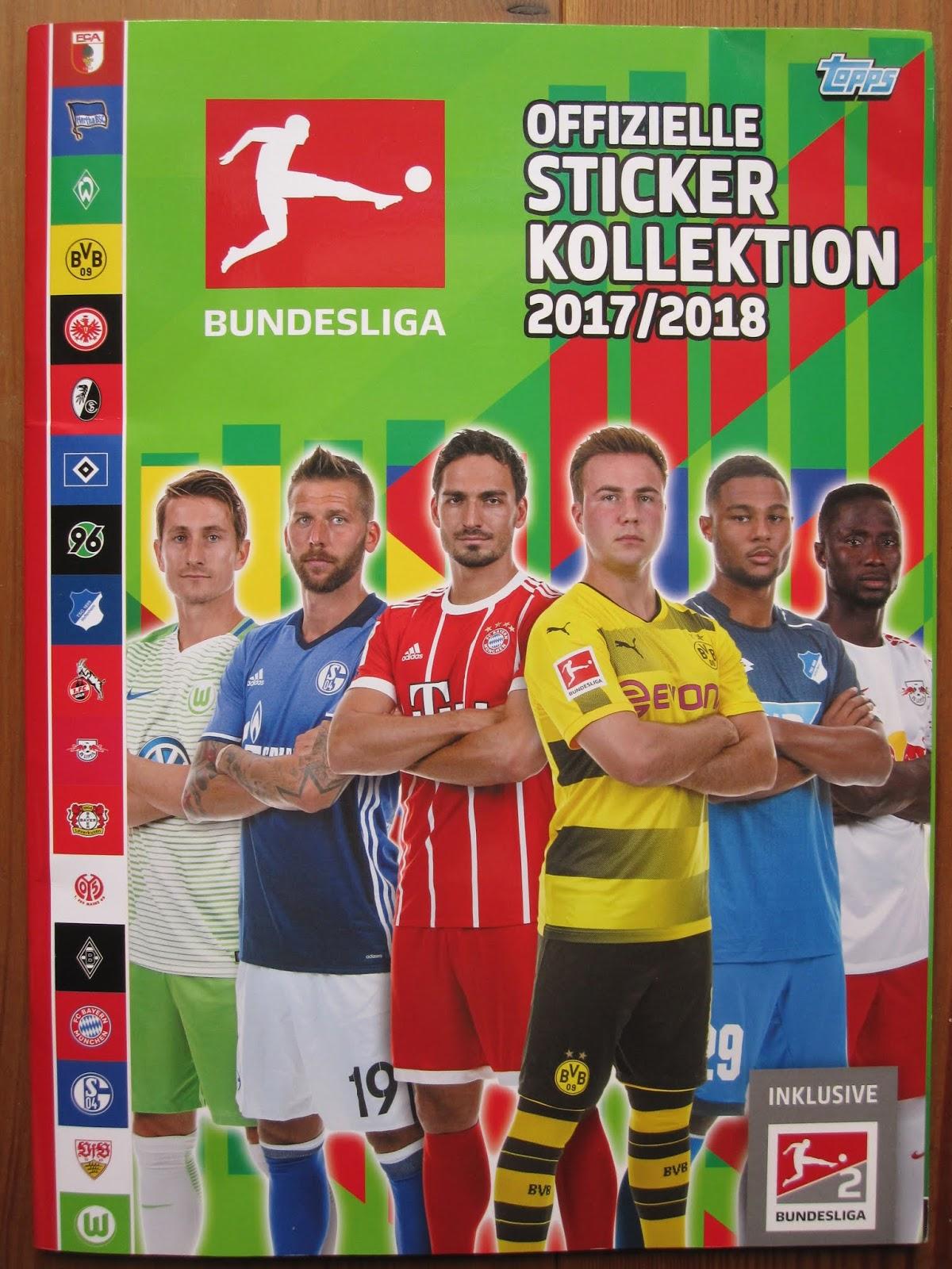 Sticker 107 Bobby Wood TOPPS Bundesliga 2017//2018