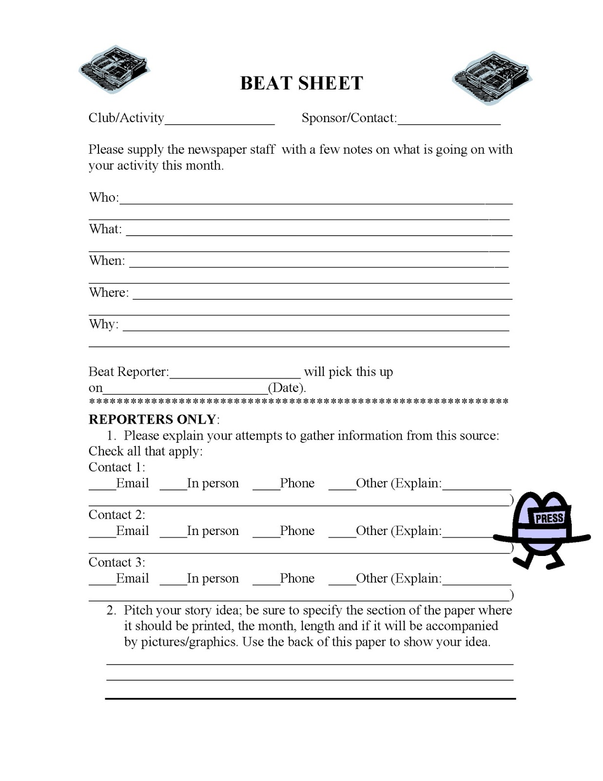 Creative Writing Worksheets For High School