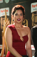 Natasha Nebasha in a Leg Slit Sleeveless Stunning Red Gown at IIFA Utsavam Awards 2017 038.JPG