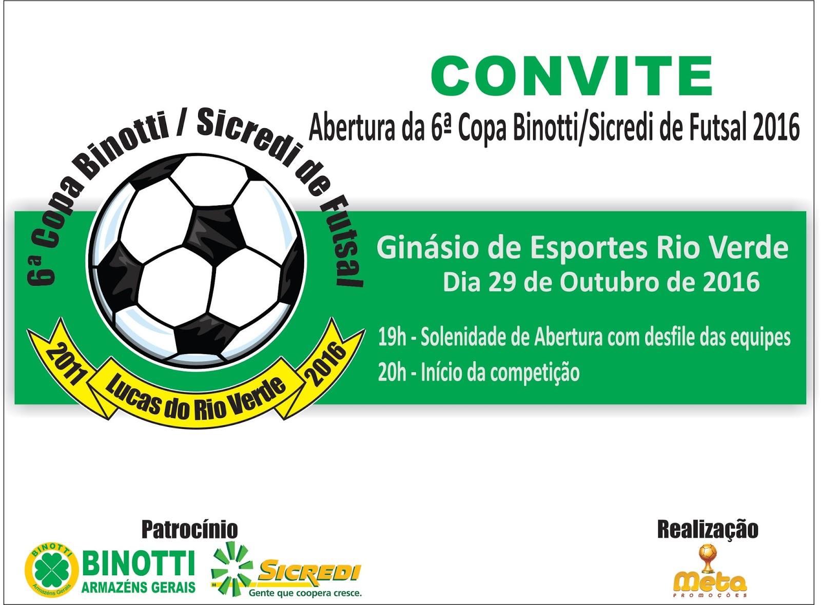Começa amanhã a 6ª copa Binotti Sicredi de futsal com atletas de 4 a ... 18d1d45951854