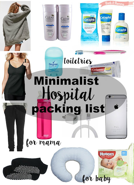Minimalist Hospital Packing List {Baby #3}