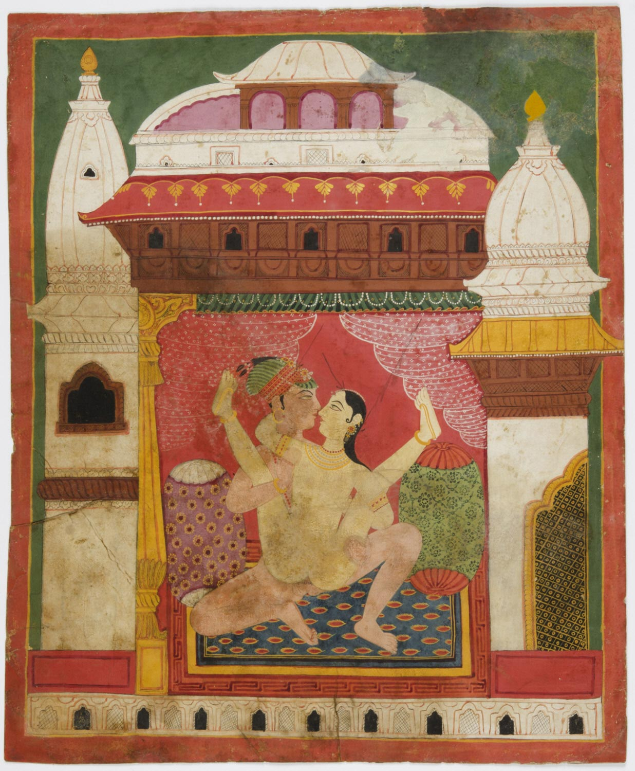 Kumari and King in Lovemaking Position - Nepal (Probably Bhaktapur), Late 18th Century