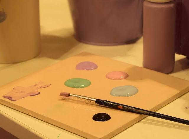 pastel coloured pottery paints