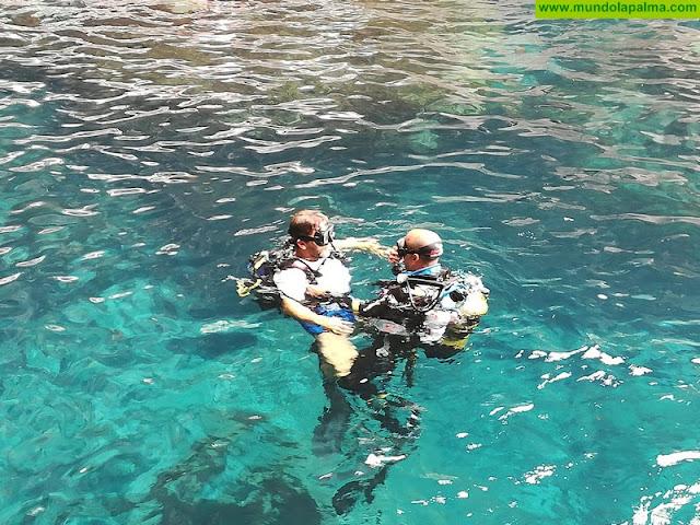 Tijarafe celebra, por primera vez, un bautismo de buceo en el Proís de Candelaria