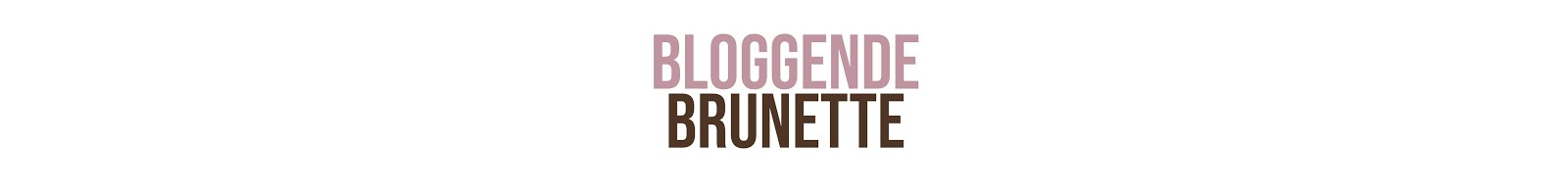 Bloggende Brunette