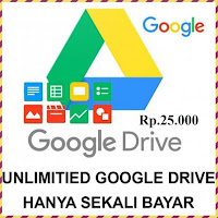 Jual Akun Google Drive Unlimited Storage
