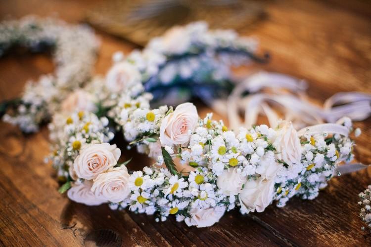 Couronne de fleurs, flower headband, Fleuriste mariage Lyon, Lyon wedding florist