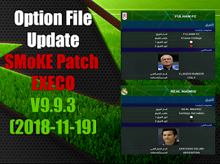 Option File Update 19.11 For PES17 SMoKE Patch EXECO 9.9.3