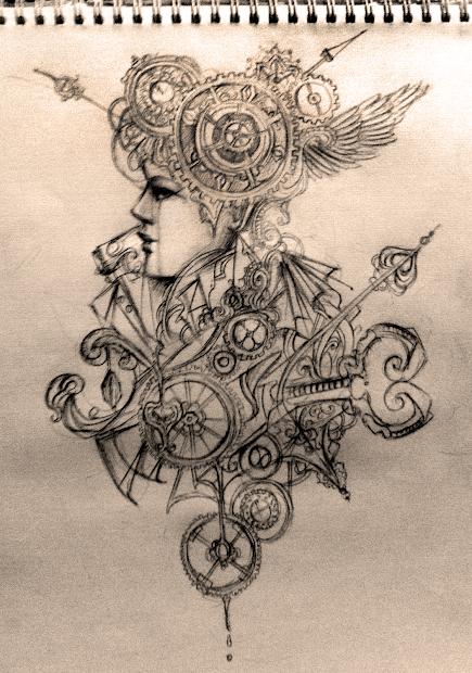 Steampunk Tattoo Drawings