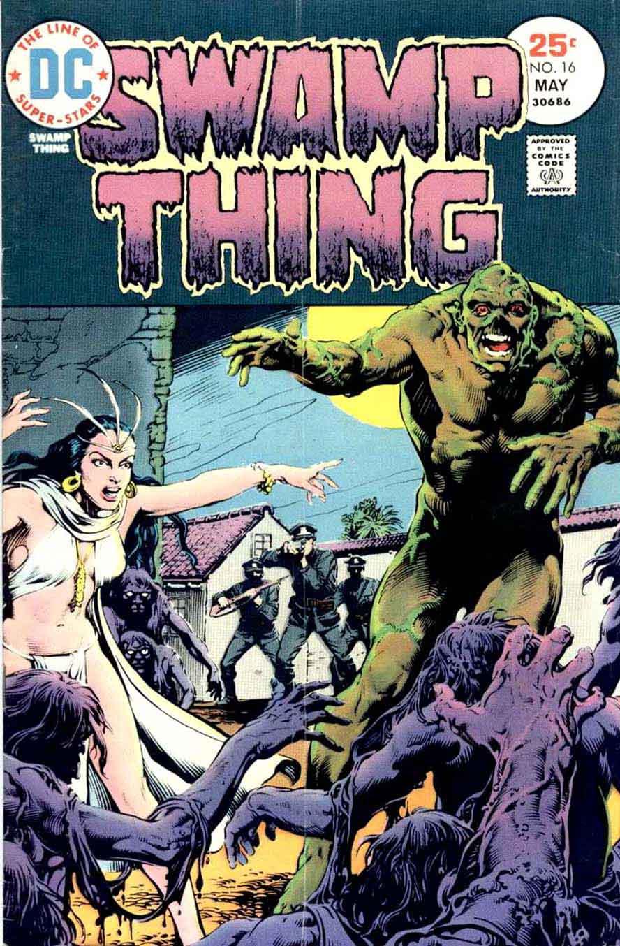 Swamp Thing v1 #16 1970s bronze age dc comic book cover art by Nestor Redondo