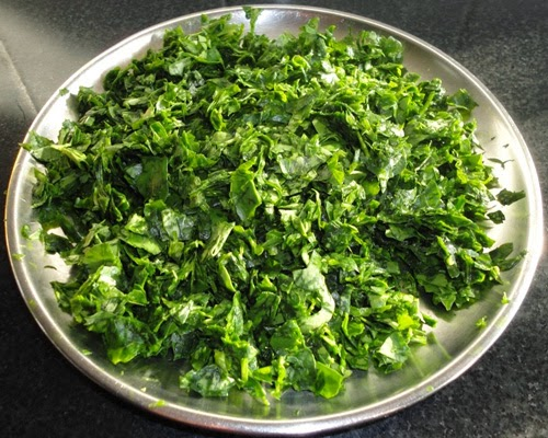 chopped methi leaves