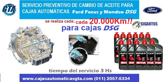 Servicio para caja automatica ford power shift