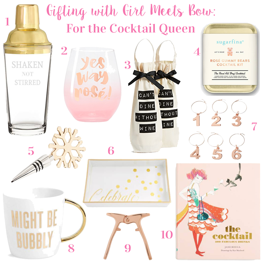 Gifting with Girl Meets Bow: For the Cocktail Queen