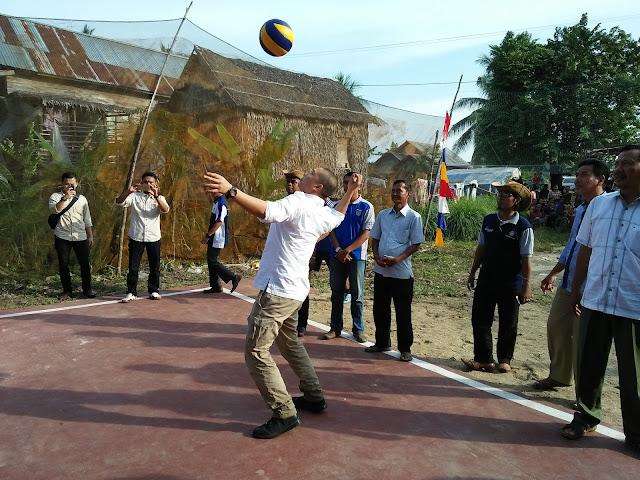 Aw Noviadi Mawardi Buka Turnamen Volly Ball Tunas Aur Cup
