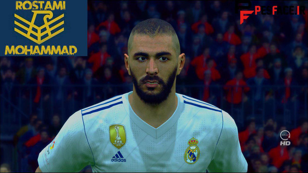 PES 2017 Karim Benzema New Face And Hair By Mohammad Rostami