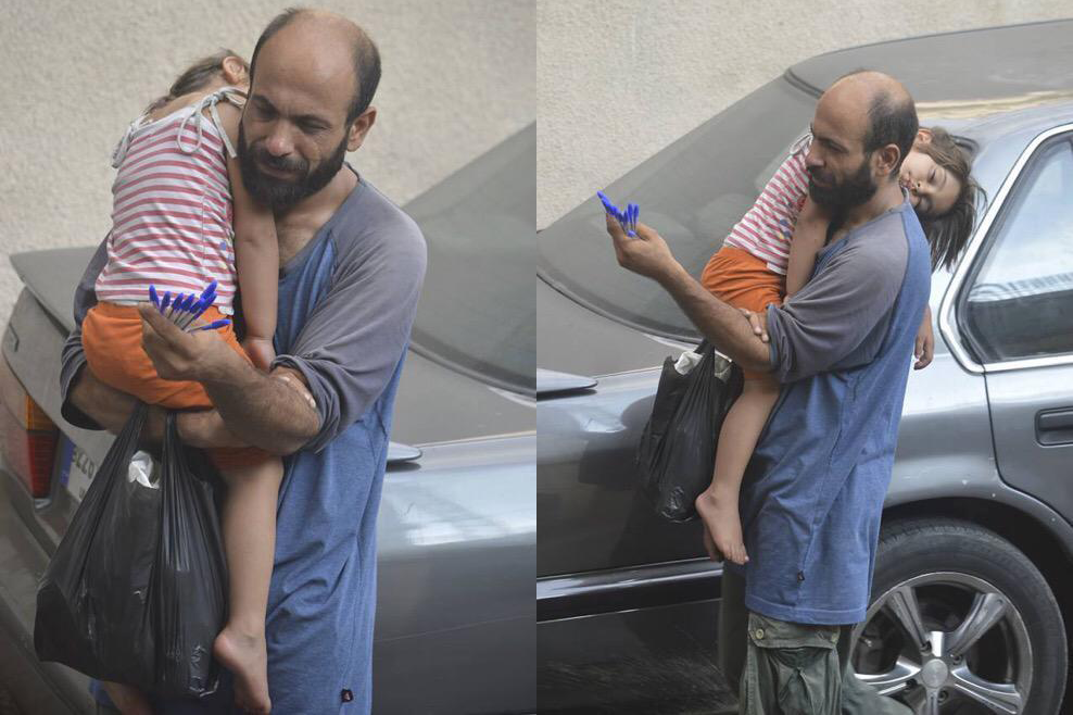 how this syrian refugee try to survive by sold pens