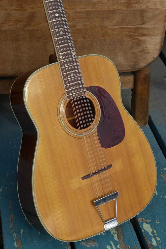 1967 harmony h1270 jumbo 12 string guitar. Black Bedroom Furniture Sets. Home Design Ideas