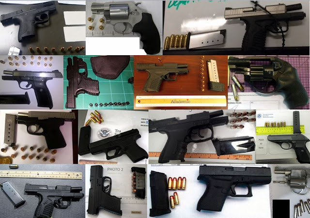 Discovered 58 firearms
