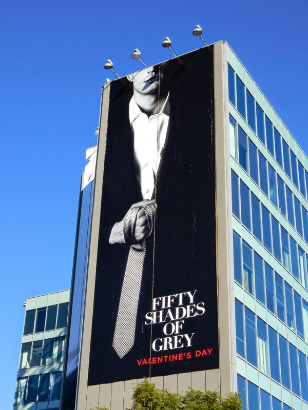 Giant Fifty Shades of Grey movie billboard