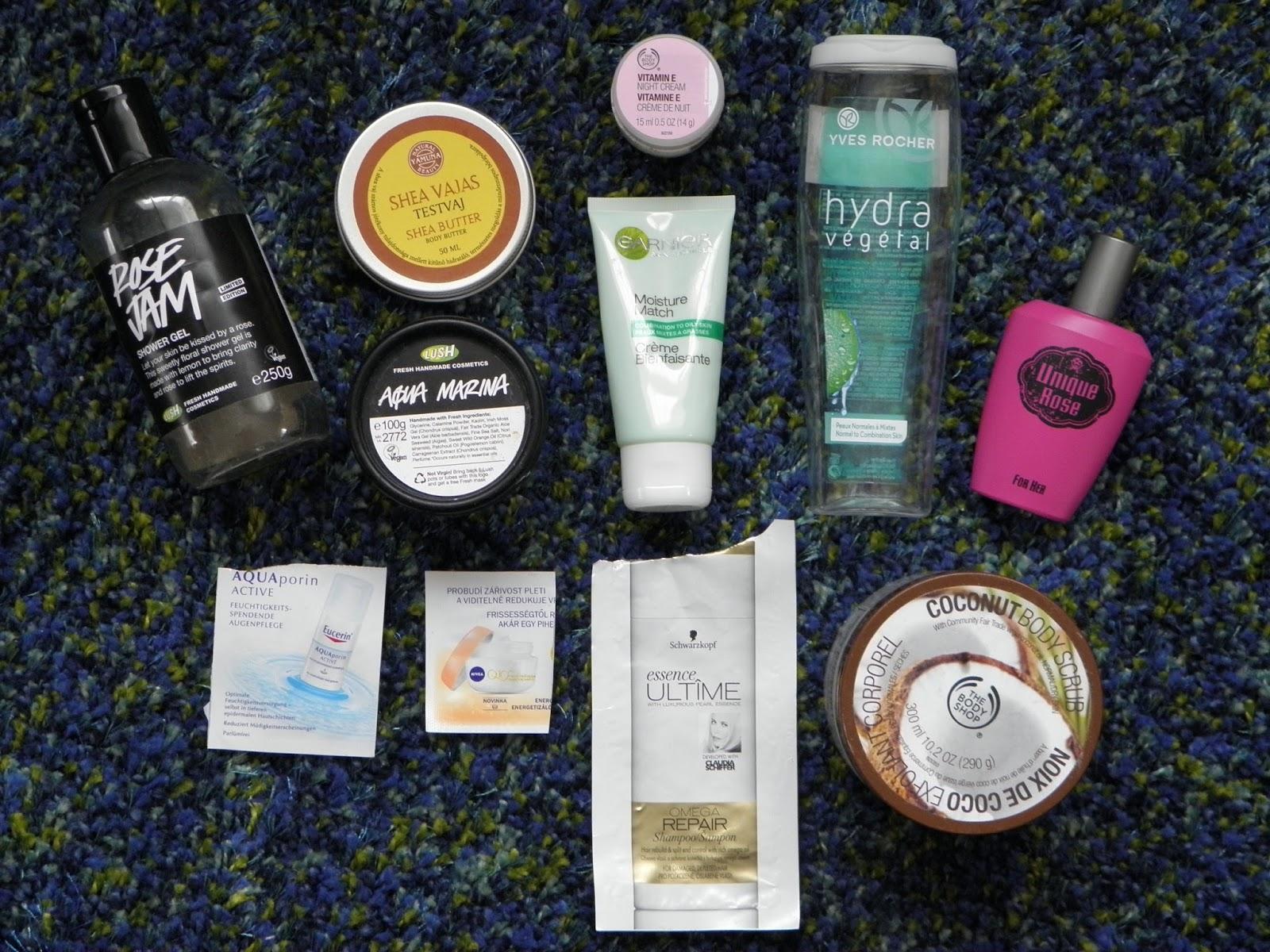 2048e8b8e1 Elfogyott termékek: 2015/4.: Lush, The Body Shop, Yves Rocher, Garnier,  Yamuna, AVON, Schwarzkopf, Eucerin, Nivea