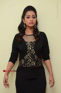 Telugu Actress Manasa Manohar Stills in Black Long Dress at Naku Nene Thopu Turumu Trailer Launch  0044.JPG