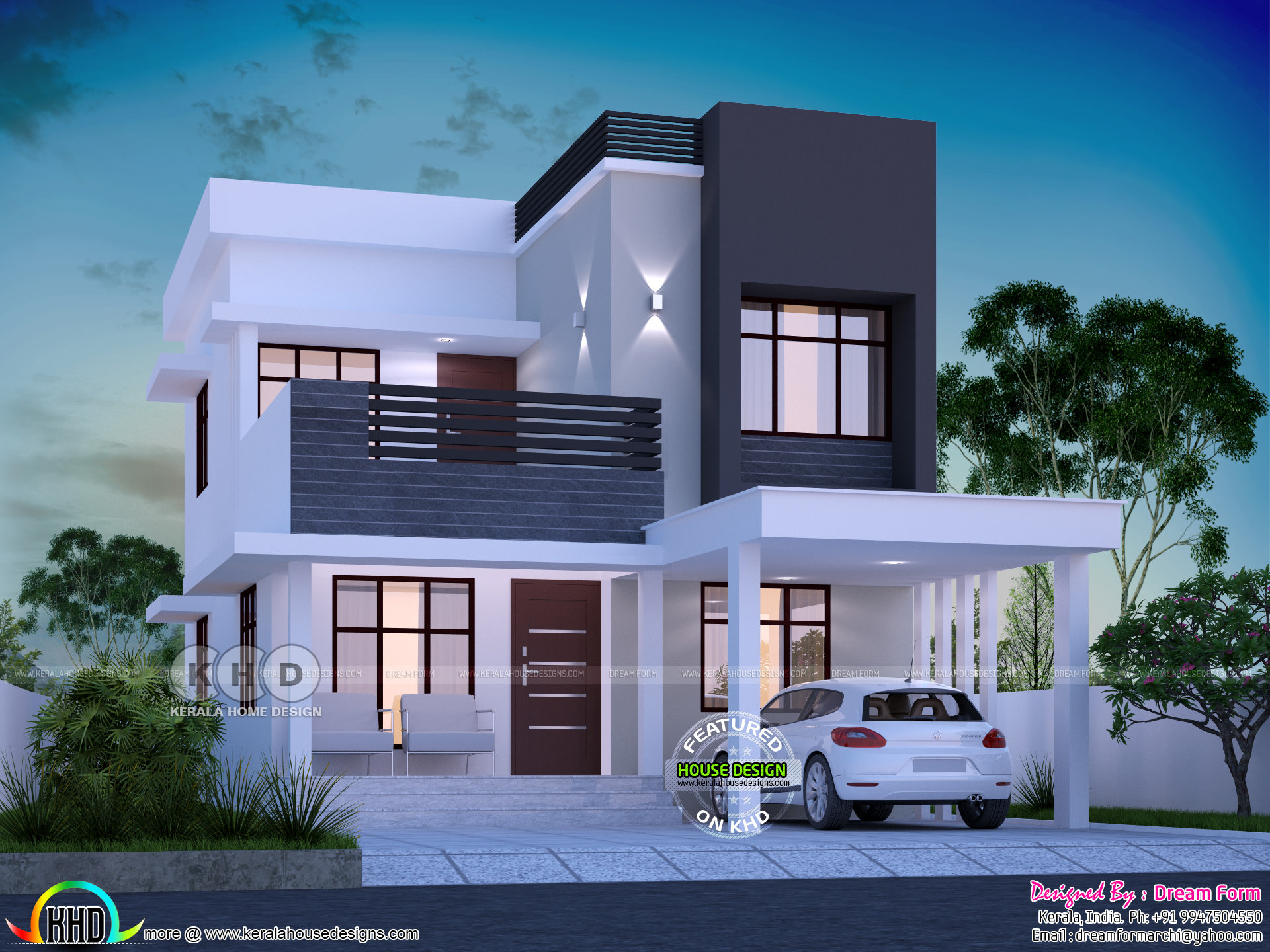 1645 square feet 3 bedroom modern house plan | Kerala home ...