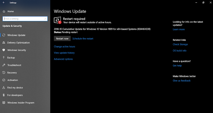 Microsoft Rilis Tuesday Patch Update Untuk Windows 10 Version 1809