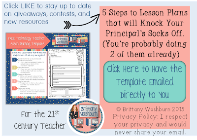 Technology Teaching Resources With Brittany Washburn July - 21st century lesson plan template