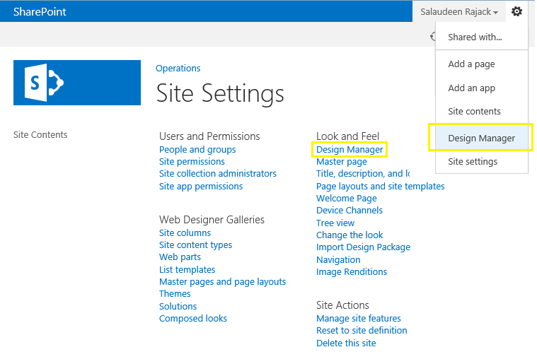 design manager sharepoint 2013 missing