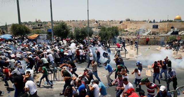 Innalillah !! Tiga Pemuda Palestina Gugur, Lebih dari 440 Orang Terluka dalam Aksi Bela Masjidil Aqsha