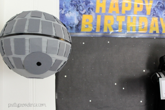 how to decorate a star wars themed party for cheap | food, decor and kids games on pretty providence