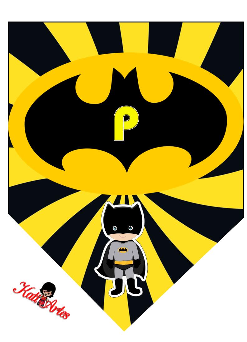 Banderines de Batman con Alfabeto para Imprimir Gratis ...