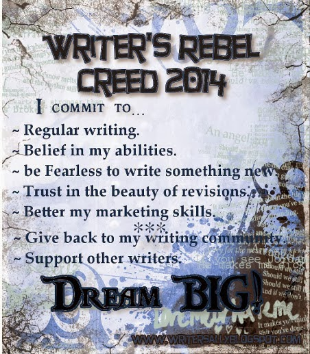 Writer's Rebel Creed 2014 Badge