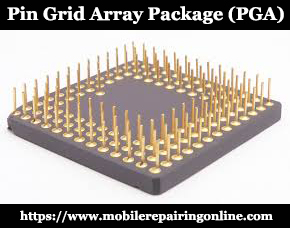 A pin grid array abbreviated of PGA. PGA has also developed another chip design called FC-PGA flip chip-pin grid array the package is in a square and rectangular shape