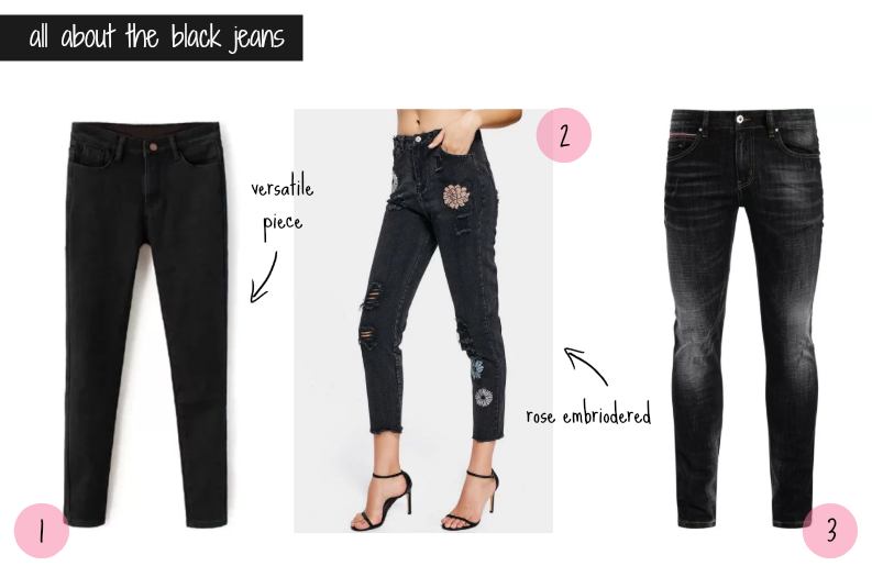 zaful wishlist black jeans