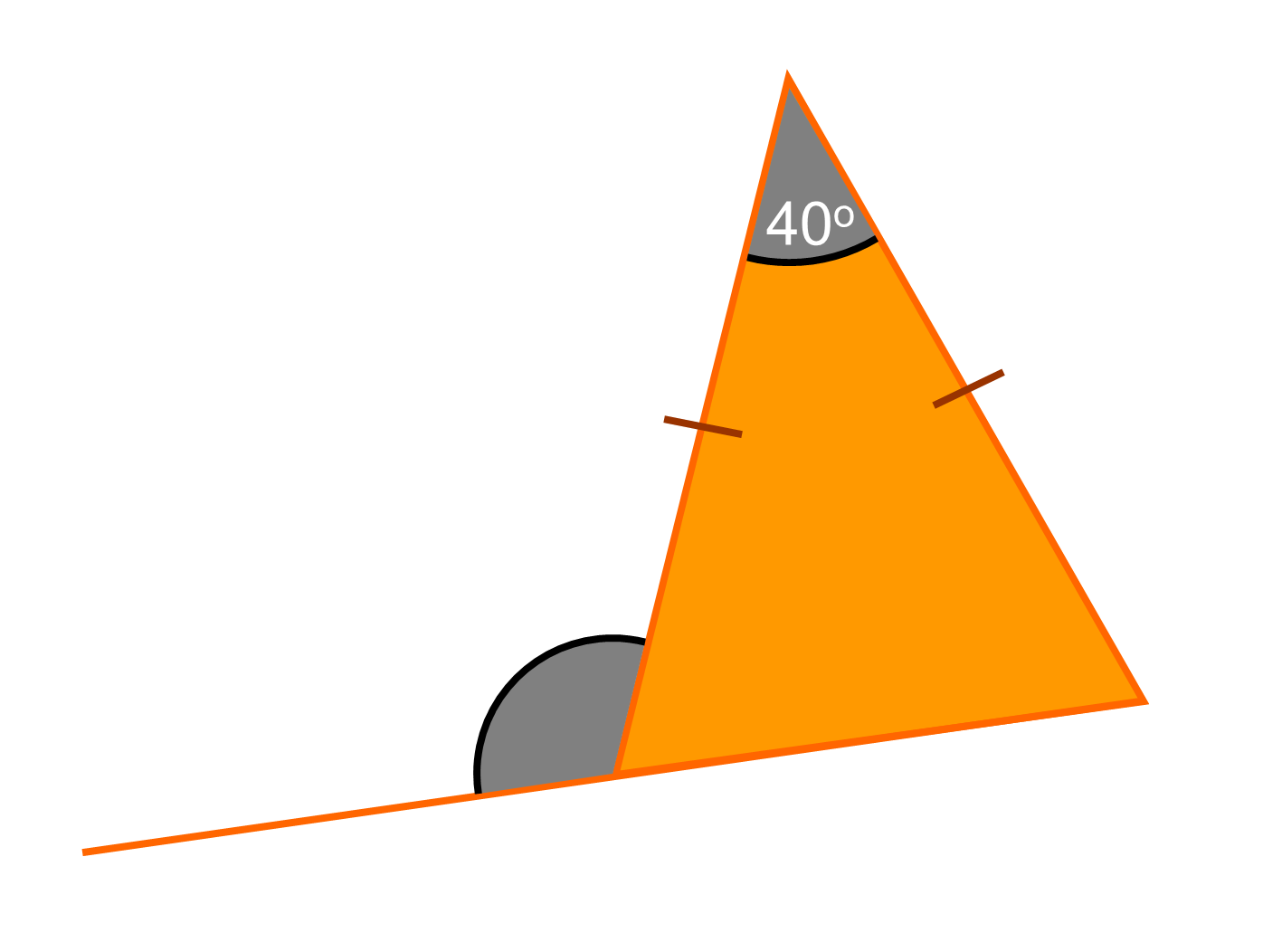 how to get the area of a isosceles triangle