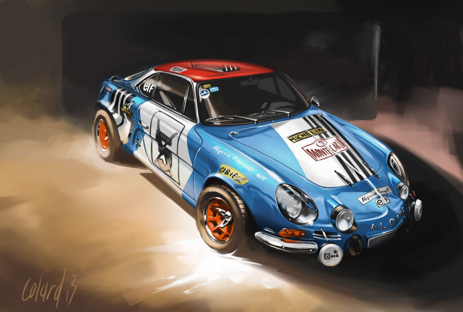 landspeed blog artwork alpine a110 berlinette. Black Bedroom Furniture Sets. Home Design Ideas