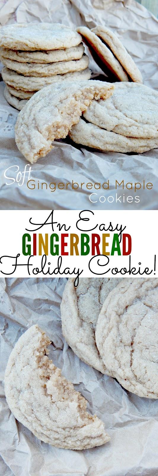 soft gingerbread maple cookies (sweetandsavoryfood.com)