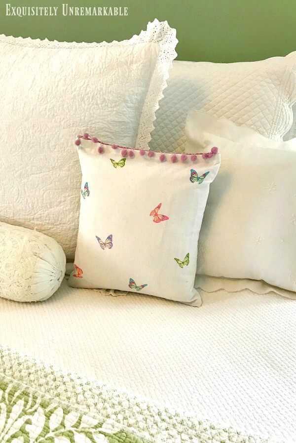 Butterfly And Bunny Pillow Cover